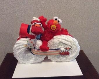 Sesame Street Elmo Diaper Motorcycle