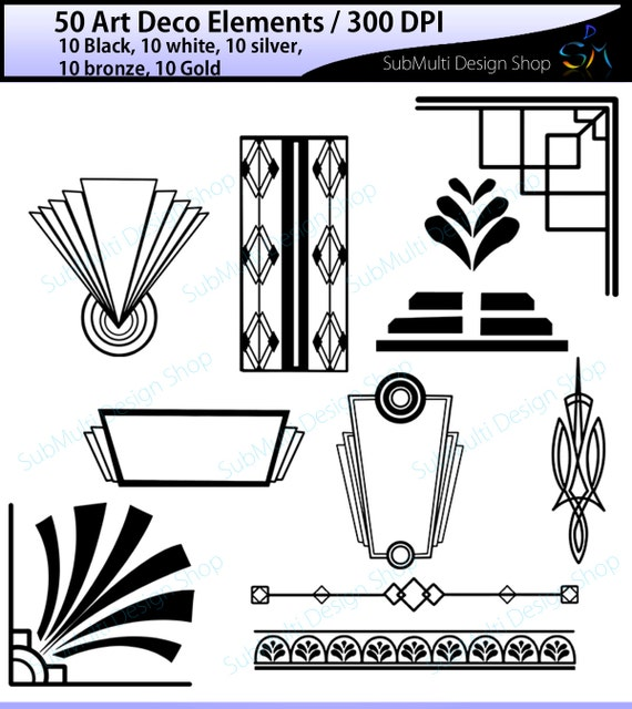 Art deco high quality art deco elements art deco for Deco 5 elements