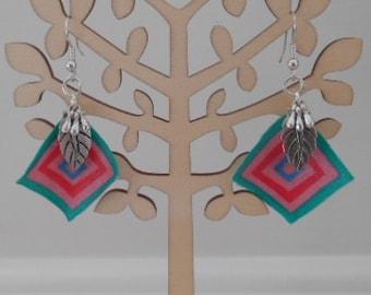 Beaded and Fabric Earrings