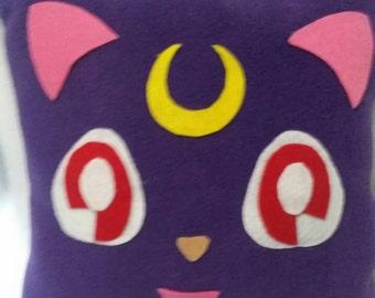 Luna cat sailor moon pillow
