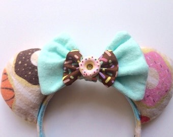 Sprinkle Doughnut Mint Ears Donut