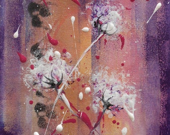 Painting white flowers