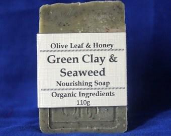Organic Green Clay & Seaweed Handmade Natural Essential Oil Soap
