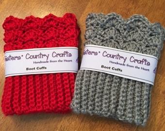 Crochet Boot Toppers, Women's Boot Cuffs