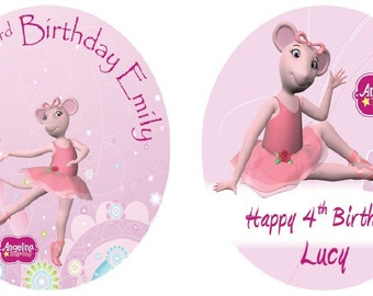 "Angelina Ballerina 7.5"" Edible Birthday Cake Topper Decoration Personalised"