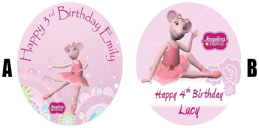Angelina ballerina 7 5 edible birthday cake topper decoration for Angelina ballerina edible cake topper decoration sale