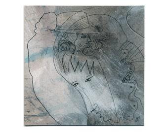 Gray image 15/15 cm (5.9/5.9 inch) / light grey and dark grey - grey tones