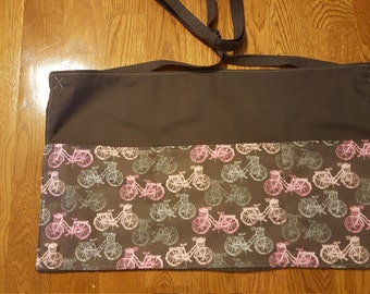 Bicycle Grey/Pink Waitress/Vendor/Teacher/Gardening Apron