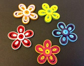 Spring blooms ( A set of 5 fridge magnets)