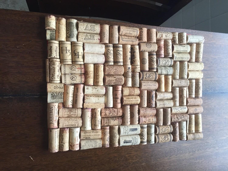 wine cork place-mat set - handmade dinner mat sets - dining table