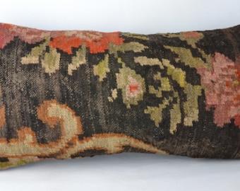 kilim lumbar,lumbar pillow cover Kilim pillow , Cojin kilim lana Moldavo   k2,unico, 30x60 cm ,12x24inc, home decor ,decorative pillow,