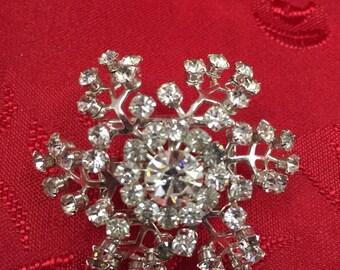 Rhinestone Snowflake Button Cover