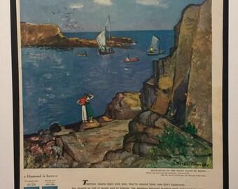 Vintage Ad Dextrose and De Beers Mines 1949 Nicolai Cikovsky