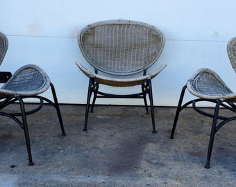 Vintage Woven Clamshell Chairs