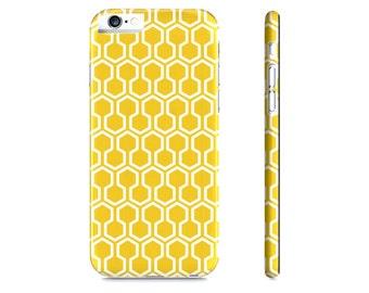 Honeycomb iPhone Case - Yellow iPhone Case - Geometric iPhone 6 Case - Geometric iPhone Case - The Mad Case