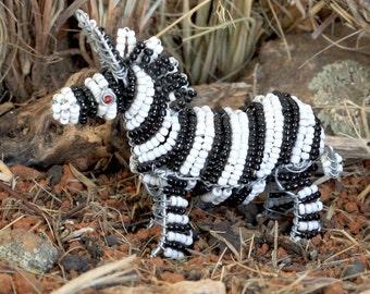 Beaded African zebra