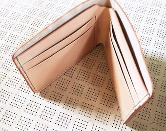 Natural Leather Wallet // Men's Wallet // Billfold // Bi-fold