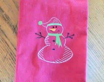 Snowman Dishtowel
