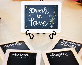 Drunk in love bar menu