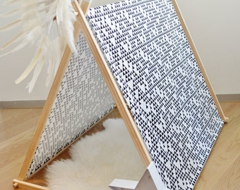 My Little Giggles A Frame Kids Play Tent / Teepee With Clothes Rack Conversion 120cm - Monochrome Madness