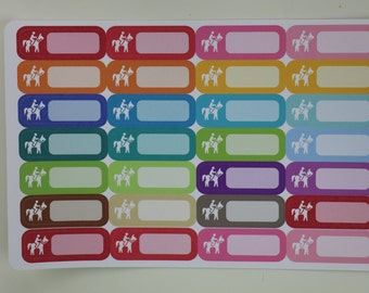 Horseback Riding Lessons   Riding Horse Planner Stickers   Rainbow L480