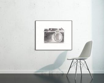 Camera Print, Vintage Camera Print , Photography Art, Photographer, 8 x 10 Print, Office Art