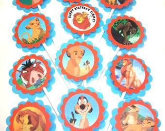 Lion King Cupcake Toppers - 1 Dozen