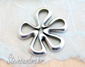 Flower silver pendant 23 mm art. 1710