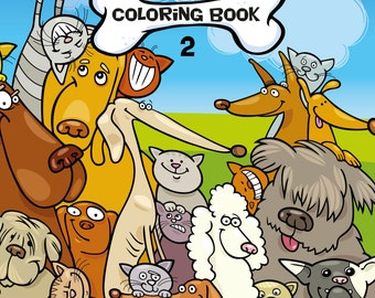 Dogs Coloring Book 2