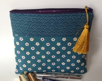 Kit blue Japanese fabric makeup of Prussia