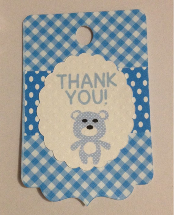 thank you tag baby shower tags baby boy thank you tags set of 10