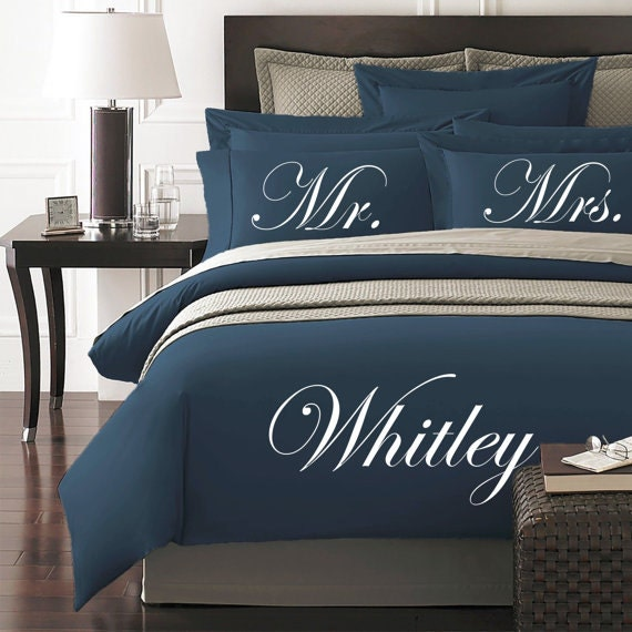 Mr And Mrs Personalized Duvet Cover And Shams