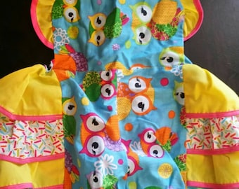Baby Romper, Ruffles, Owl Romper, Owl Outfit, Ruffle-back Baby Romper, 18 to 24 mo