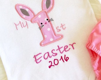 Easter bunny first easter top ONLY! Easter top , 1st easter , easter 2016