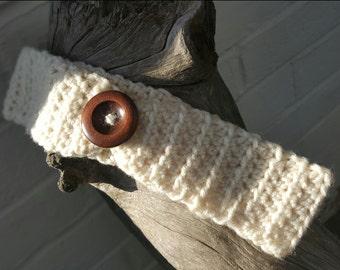 Crochet Button Headband