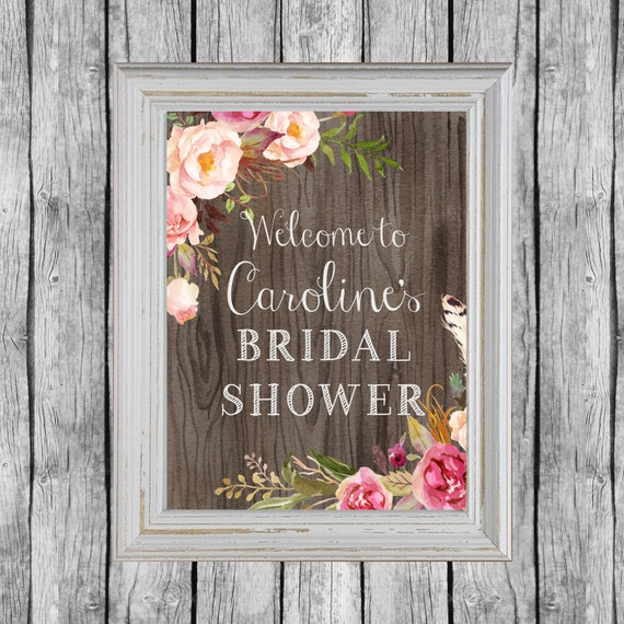 rustic bridal shower sign bridal shower door decoration. Black Bedroom Furniture Sets. Home Design Ideas