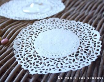 White doily paper delicate lace