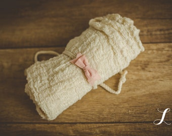Newborn Tieback & Wrap Set, Newborn Photo Prop