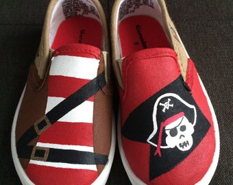 PIRATE shoes - hand painted