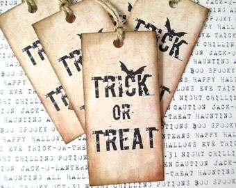 Halloween Tags, Tags, Halloween, Trick or Treat Tags, Trick or Treat, Halloween Gifts, Vintage Halloween, Vintage Tags