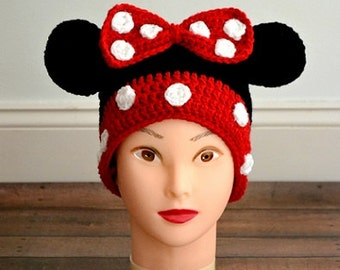 Minnie Mouse (Inspired) Beanie