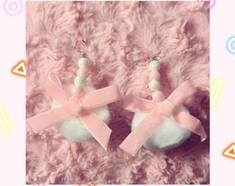 Powder Puff earrings