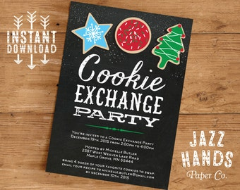 Cookie Exchange Invitations Template | DIY Printable | Cookie Exchange Party | Cookie Exchange Invite | Cookie Swap Invitation