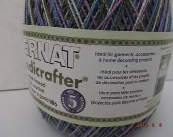 Bernat Handicrafter Crochet Thread Variegated ~ Size 5 ~ Urban ~ 2.8 oz ~ 350 Yards