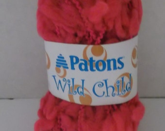 Patons Wild Child Yarn ~ Colour - Chou Chou (pink) ~ #6 Super Bulky ~70 grams ~