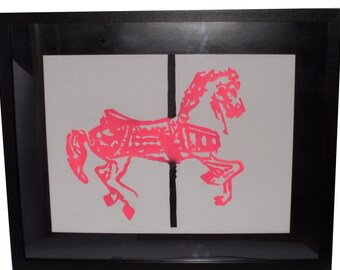 Carousel Horse Paper Cut Out