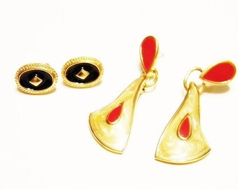 Earrings, TRIFARI and MONET Signed