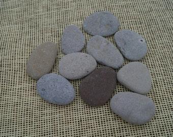 10 gray sea stones,seaside supplies,natural pebbles,natural supplies,wedding decor,rustic home decor,flower pot decor,wedding Guest book