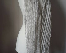 Pure Linen scarf - Extra Long linen scarf - Woman spring scarf - Gray linen scarf - Knitted scarf  - Woman Spring accessories
