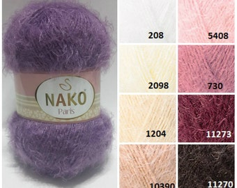 NAKO Paris, knitting material, soft yarn, knitting yarn, fancy yarn, soft yarn, crochet thread, accessories yarn, sweaters yarn, shawls yarn